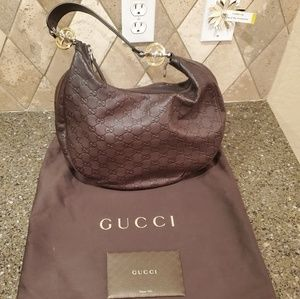 Gucci Brown Leather Bag (Very Good Condition)